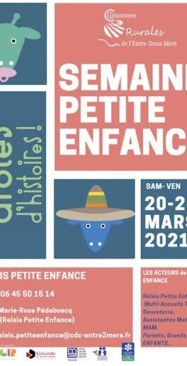 Semaine de la petite enfance du 20 au 26 mars 2021