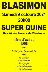 Read more about the article Grand loto des Aînés ruraux samedi 9 octobre 2021 à 20h00
