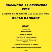 Repas des Aînés ruraux de Blasimon, le dimanche 11 décembre 2016