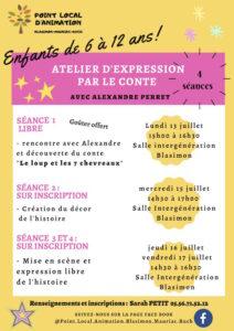 Ateliers d'expression par le conte animés par Alexandre Perret