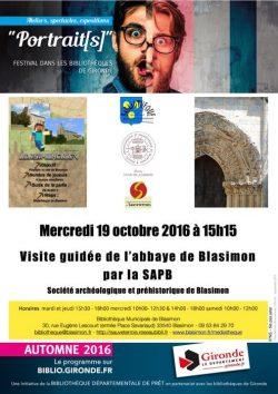 Visite de l'abbaye de Blasimon par la SAPB