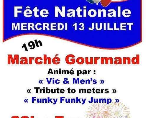 Fête Nationale mercredi 13 juillet 2016 à Blasimon