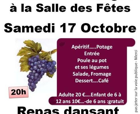 Fête des vendanges 17 octobre 2015 à Blasimon