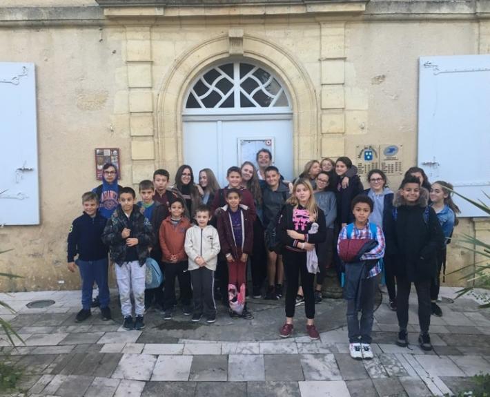 Sortie du Conseil municipal des jeunes de Blasimon le 8 novembre 2018