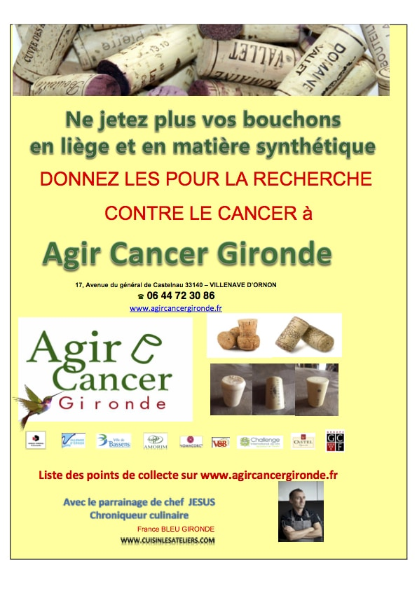 Collecte des bouchons avec Agir contre le cancer en Gironde