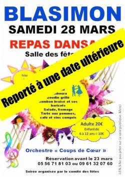 Report de la Fête du Printemps du samedi 28 mars à une date ultérieure