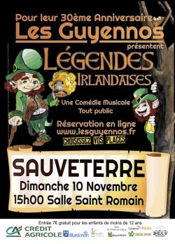 Légendes irlandaises, comédie musicale des Guyennos