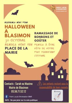 Halloween à Blasimon vendredi 30 octobre 2020 à 15h00