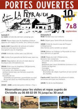 Portes ouvertes 2019 au Château La Peyraude : 10 ans