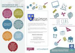 Réunion de présentation du Contrat d'accompagnement à la scolarité, CLAS, jeudi 26 septembre à 18h30