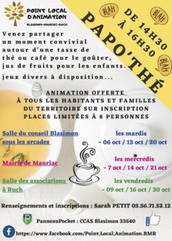 Papo'Thé – Point local d'animation Blasimon-Mauriac-Ruch