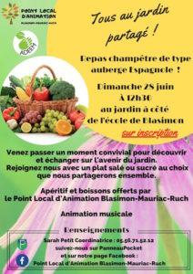 Déconfinement du «Jardin Frutier» jardin partagé de Blasimon – Rendez-vous le 28 juin