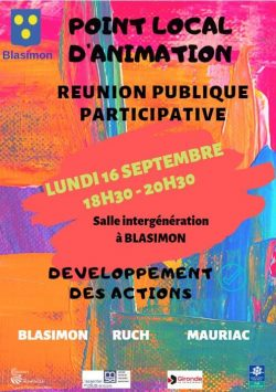 Réunion publique participative lundi 16 septembre à 18h30