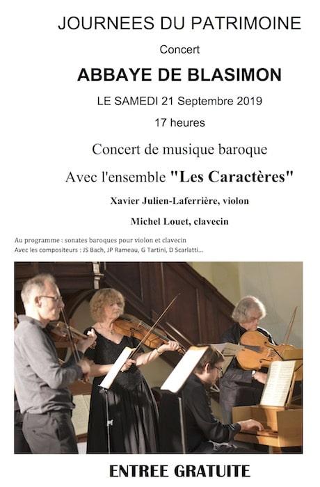 Concert et visite de l'abbaye pour les Journées du patrimoine à Blasimon – SAPB