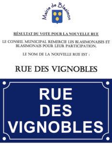 Rue des Vignobles, la nouvelle rue de Blasimon