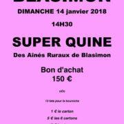 Loto des Aînés ruraux à Blasimon dimanche 14 janvier 2018