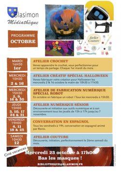 Atelier créatif spécial Halloween, mercredi 30 octobre à 10h30 à la bibliothèque