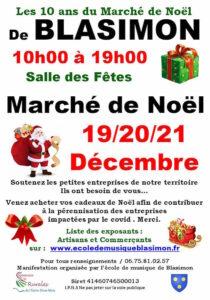 Marché de Noël 19, 20 et 21 décembre 2020