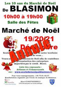 Annulation du Marché de Noël 2020