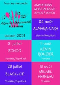 Read more about the article Marché gourmand avec Black Ice mercredi 28 juillet 2021