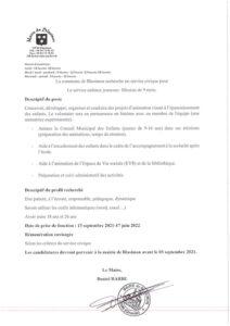 Read more about the article Recrutement d'un service civique