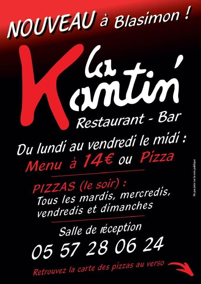Restaurant La Kantin de Blasimon