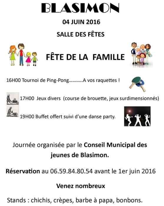 Fête de la famille organisée par le Conseil munipal des jeunes de Blasimon