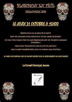 Halloween à Blasimon jeudi 31 octobre 2019 à 15h30