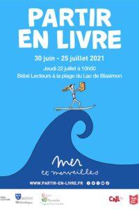 Bébé Lecteurs jeudi 22 juillet à la plage du Lac de Blasimon pour Partir en Livre !