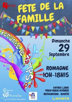 Fête de la Famille dimanche 29 septembre à Romagne
