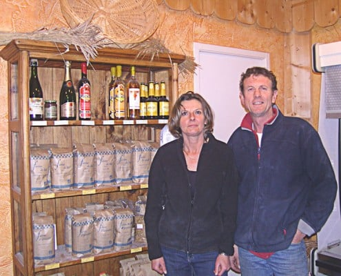 Céréales Bio. Mr et Mme Berjon
