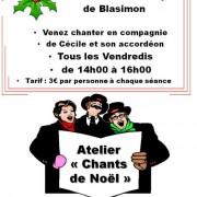 Atelier Chants de Noël à lécole de Musique de Blasimon