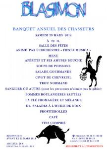 Banquet des Chasseurs 29 mars 2014