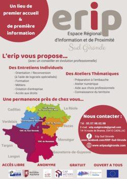 ERIP Sud Gironde Espace régional d'information et de proximité