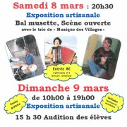Fête de l'école de musique 8 & 9 mars 2014