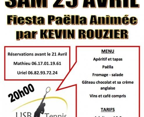 30 ans de l'USB Tennis de Blasimon - Fiesta Paella