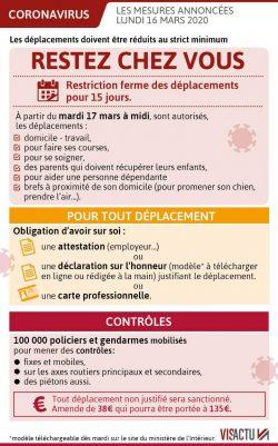 Nouvelle attestation de déplacement – Bourse des solidarités – Accueil Mairie uniquement sur rendez-vous