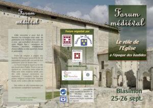 Read more about the article Forum Médiéval des Bastides les 25 & 26 septembre 2021