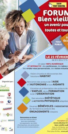 Forum bien vieillir le 23 février 2021 de 9h30 à 17h30 – 100% numérique et interactif