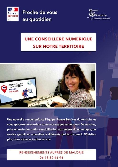 Malorie Gourraud, conseillère numérique itinérante