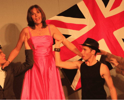 Spectacle des Guyennos en 2014 à Blasimon
