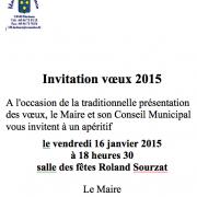 Invitation Voeux 2015 Blasimon