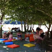 Lire Au Domaine 2014, la bibliothèque à la plage du Lac de Blasimon