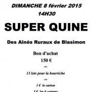 Loto des Aînés de Blasimon du 8 février 2015