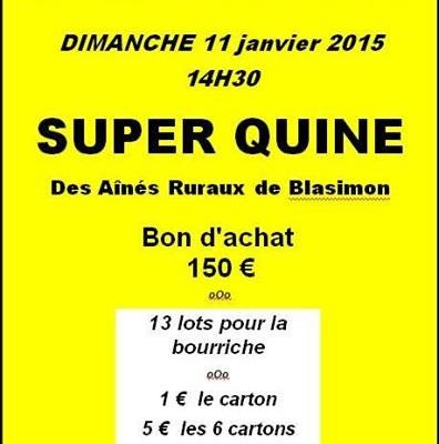 Loto des Ainés Ruraux du 11 janvier 2015