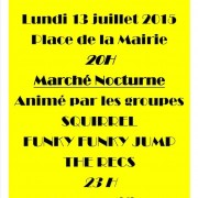 Marché du Comité des Fêtes de Blasimon du 13 juillet 2015