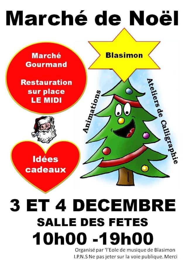 Marché de Noël 2016 à Blasimon