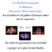 Marchés Gourmands à Blasimon. 10ème anniversaire.