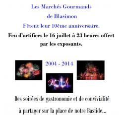 Marchés Gourmands. 2004 – 2014 !  10 ans…