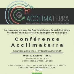 Conférence « Les Hommes face au changement climatique – Comité scientifique Acclimaterra »